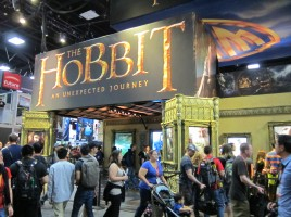 The WB Booth at SDCC 2012 the hobbit