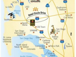 SDCC Hotel Area Map