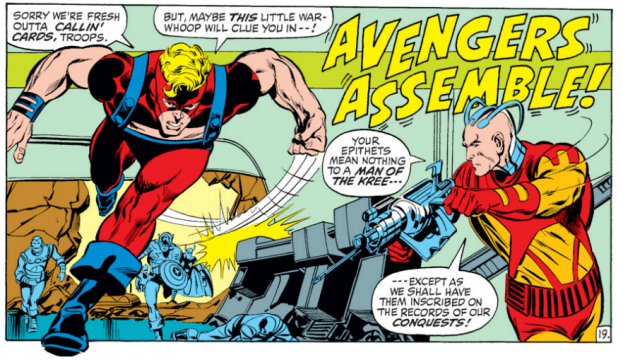 A Neal Adams Avengers comic strip.