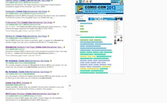 SDCC 2013 Programming Schedule Cache