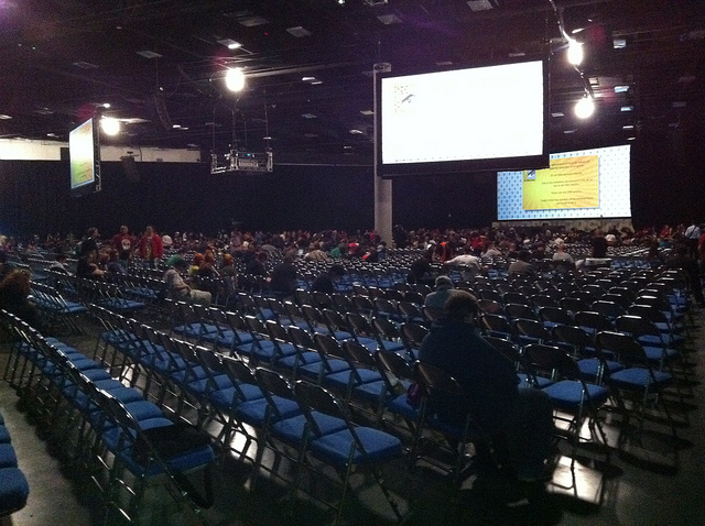 Inside SDCC Hall H - Right