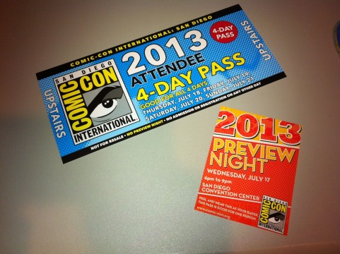 4 day pass comic con badge