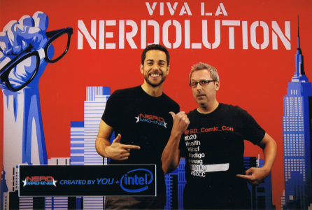 Jeremy and Zac at the Nerd Machine Booth during NYCC