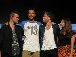 Matt Smith, Zachary Levi, Richard Madden, and Jenna Coleman at a Nerd HQ panel.