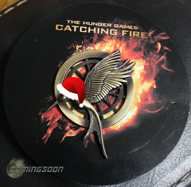 This Mockingjay pin was one of the few hot swag items this year. Photo from ComingSoon.net