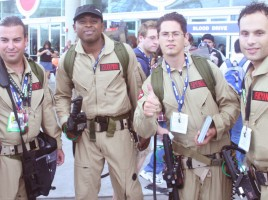 Ghostbusters Cosplay at SDCC, via Ewen Roberts at Flickr.