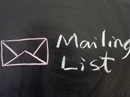 Sign up for our mailing list!