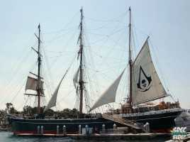 Assasin's Creed Ship sdcc 2013 Star of India Ship Offsite