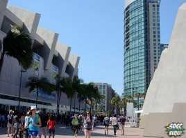 Outside Comic Con Convention Center Hotel Crowd shot