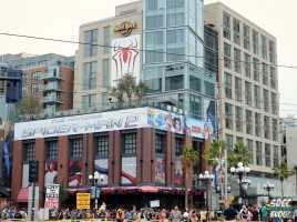 Offsite Gaslamp Street View Hard Rock Hotel Spiderman 2 Banner