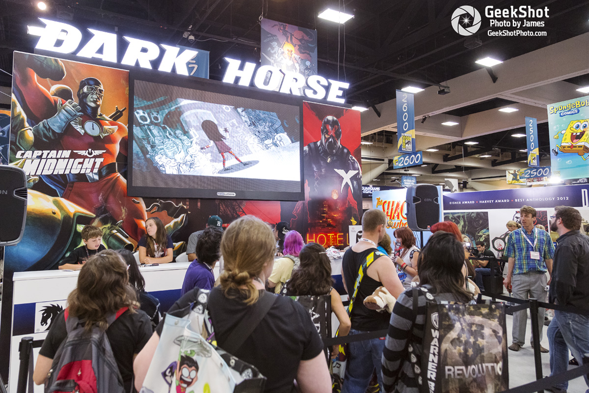 Dark Horse Comics booth display floor Captain Midnight X