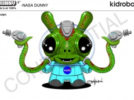 Kidrobot SDCC 2014 'ISS Dunny 1' Exclusive