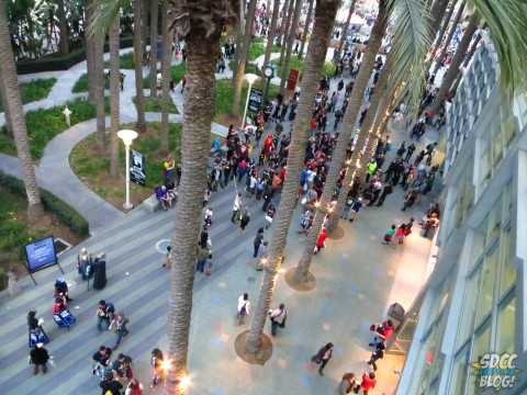 Crowds gathering at WonderCon