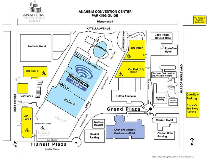 Parking Information For Wondercon Anaheim San Diego Iccon: Los Angeles Convention Center Parking Map At Infoasik.co