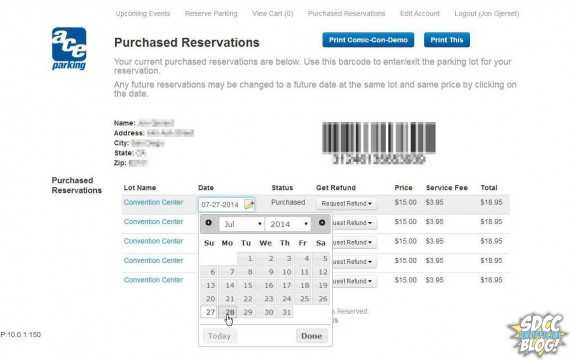 Dates on passes can be changed after checkout, pending lot availability.