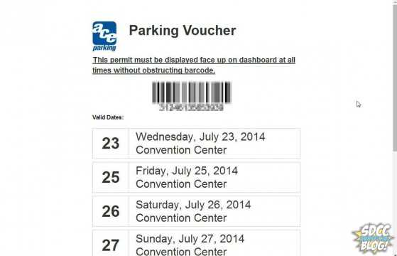 The parking voucher does not need to be printed at lots with attendants - it can be scanned on an iPhone.