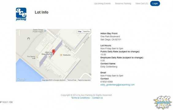 Detailed view of each lot is available in Ace Parking's new sale system.