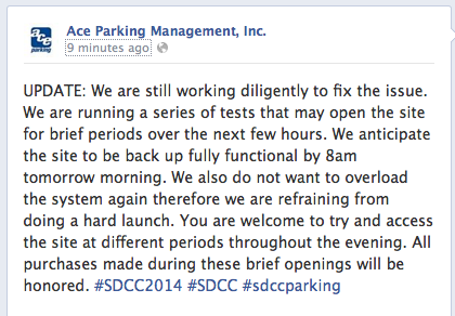 ace parking update