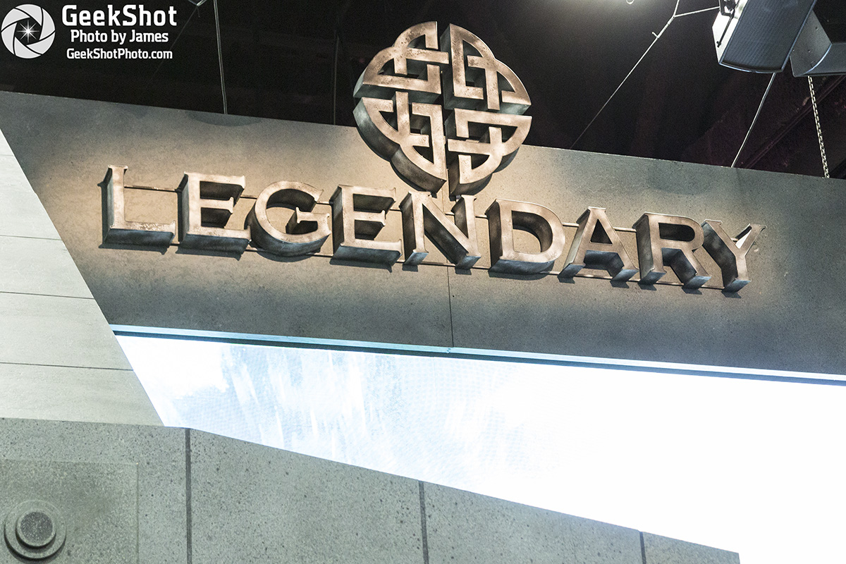 Legendary entertainment logo movie booth floor display