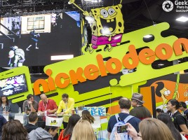 Nickelodeon Spongebob Squarepants Tom Kenny Bill Fagerbakke Patrick Sanjay & Craig booth floor display
