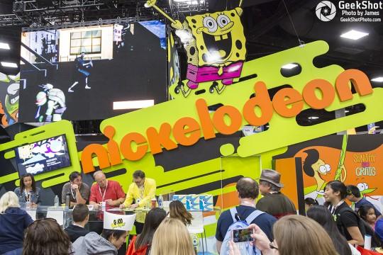 Nickelodeon Spongebob Squarepants Tom Kenny Bill Fagerbakke Patrick Sanjay & Craig booth floor display
