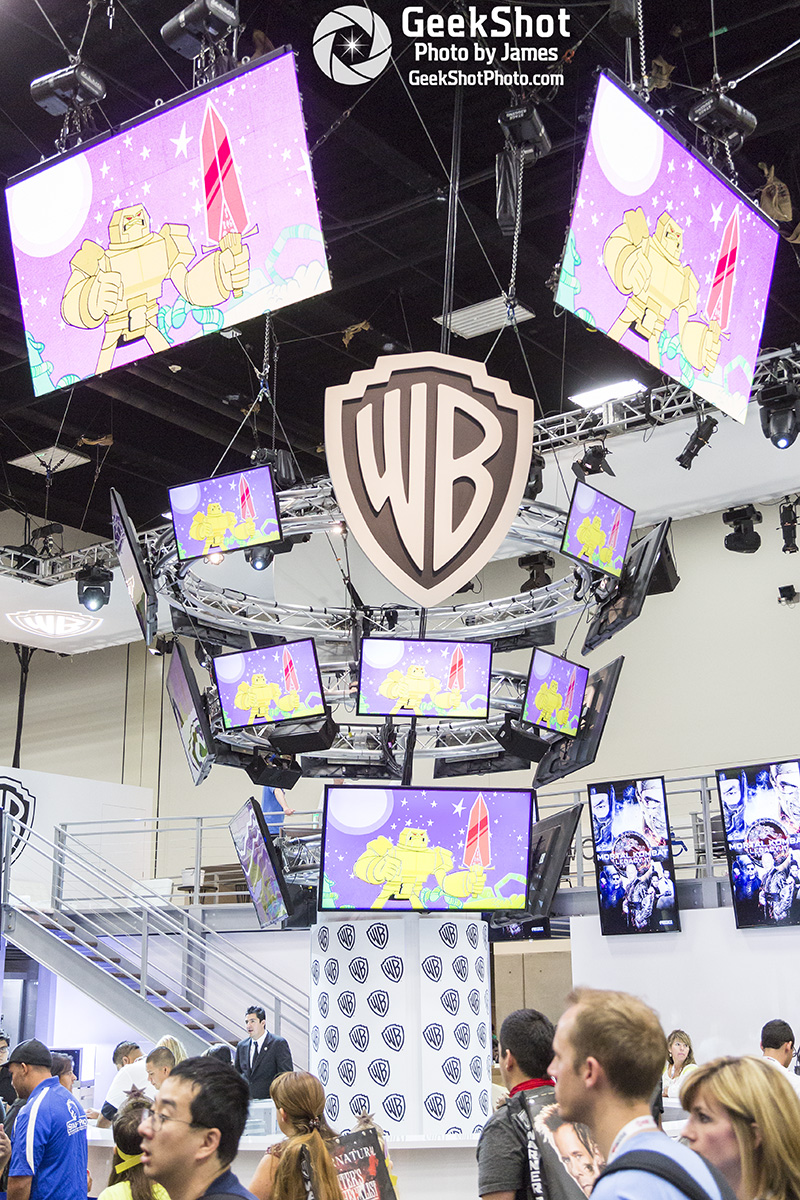 WB Warner Bros booth floor display