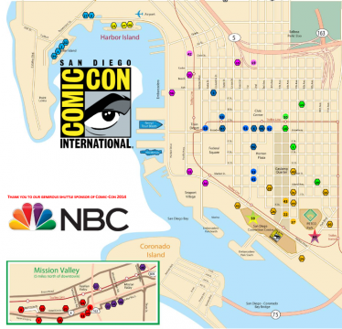 SDCC 2014 Shuttle Map Schedule Revealed San Diego ComicCon