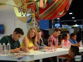 Power Rangers Cast Signing Nickelodeon Booth - Ciara Hanna, Andrew Gray, Christina Matterson, Cameron Jebo, Azim Rizk, John Mark Loudermilk