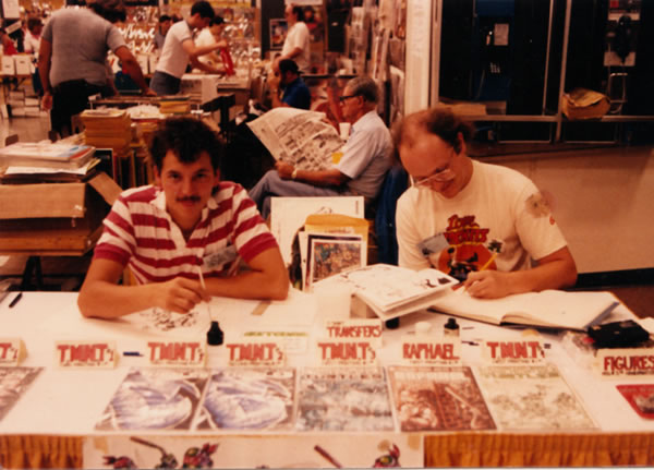 Kevin Eastman at San Diego Comic-Con in 1986.