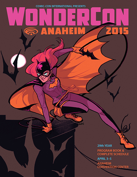 wondercon program book cover babs tarr batgirl