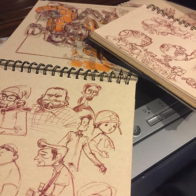Ballesteros Reveals Additional Sketckbook Pages