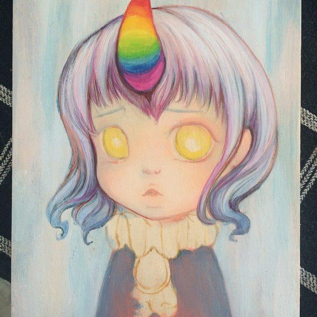 Camilla d'Errico Painting in Progress