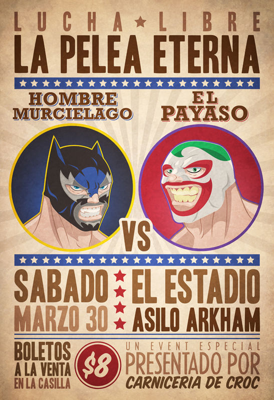 Batman and The Joker Lucha Libre