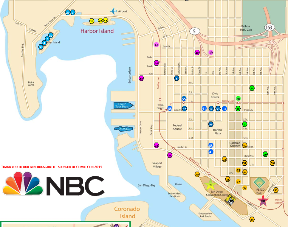 SDCC 2015 Shuttle Map, Schedule Revealed | San Diego Comic Con