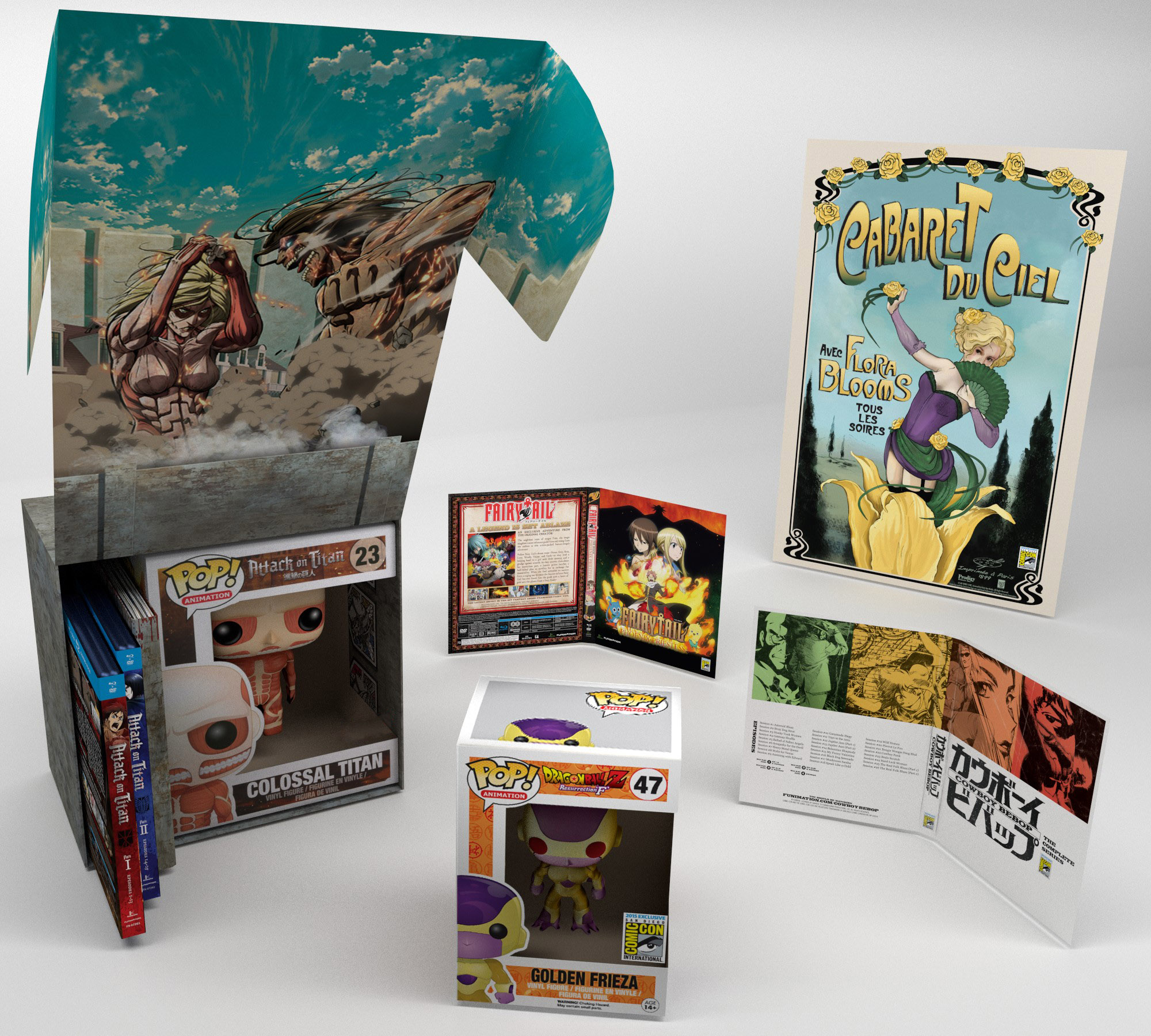 2015 FUNimation SDCC Exclusives Collection