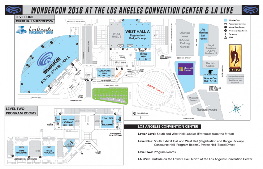 WonderCon Map, More Information About RFID Badges Revealed