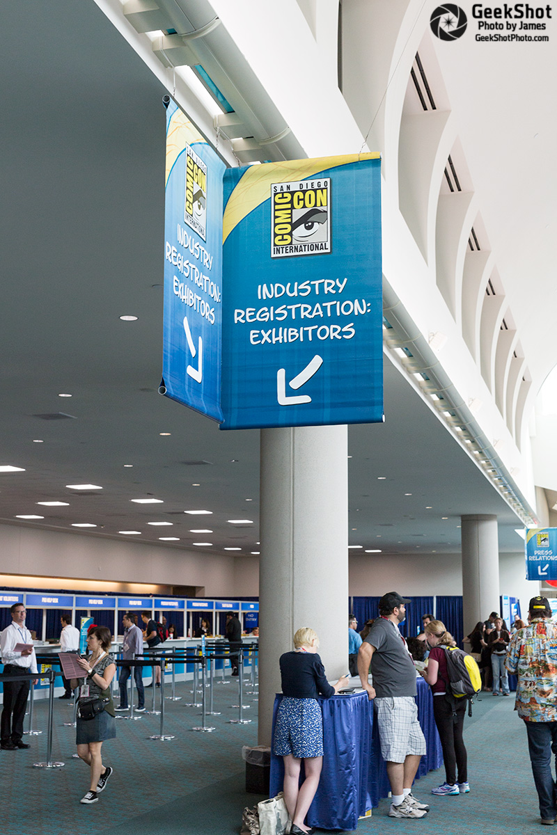 SDCC 2015 - sign signage industry registration exhibitor exhibitors hall d convention center