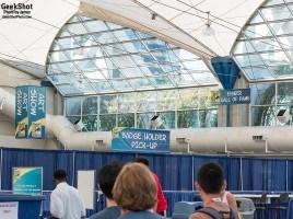 SDCC 2015 - sign signage sails pavilion art show badge holder pick-up eisner hall of fame  convention center