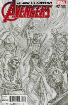 All new all different Avengers 1 sketch