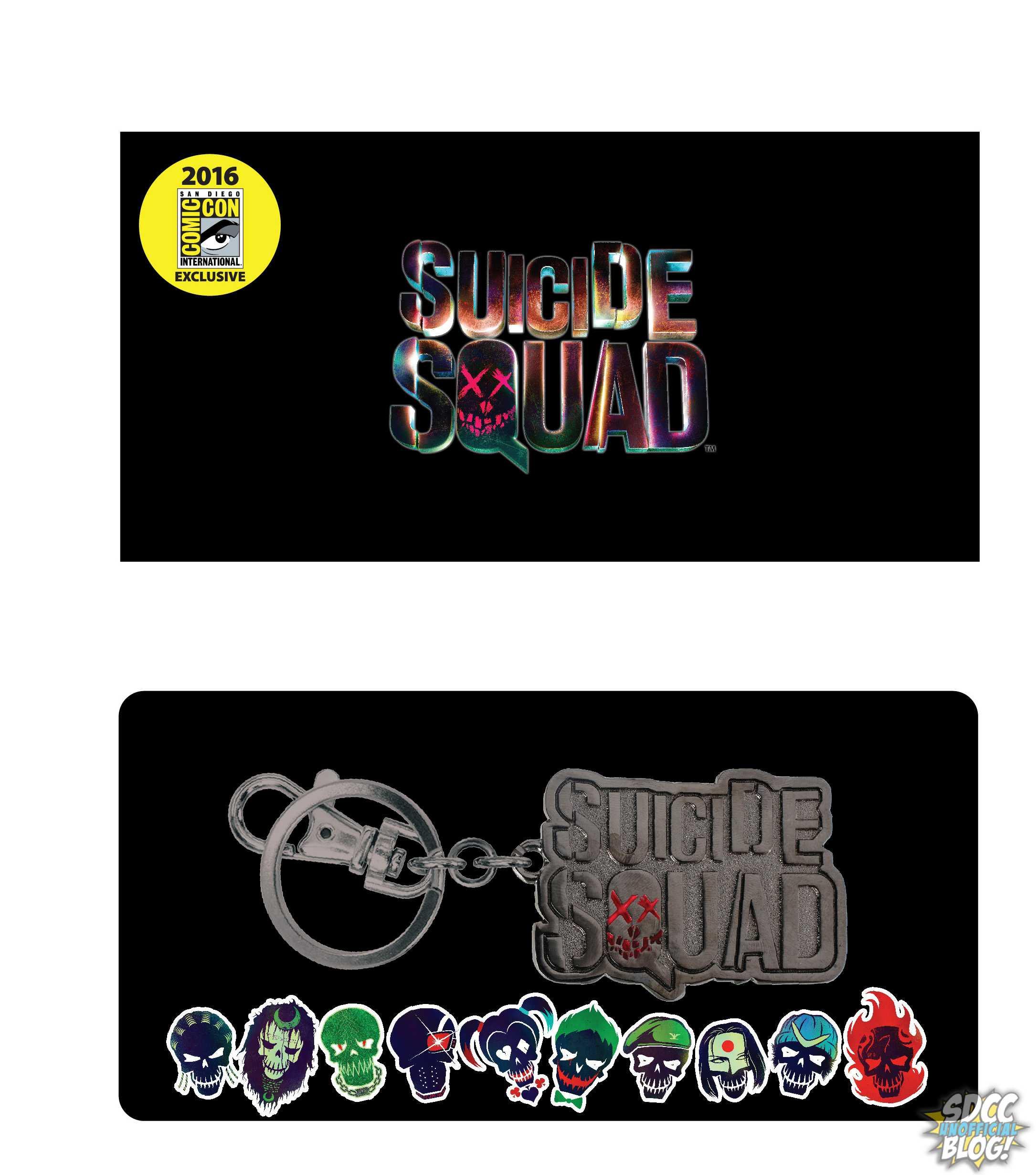 SDCC Comic Con 2016 EXCLUSIV Suicide Squad JOKER Keyring