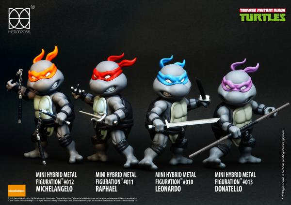 new 4 in 1 SDCC TMNT Minis