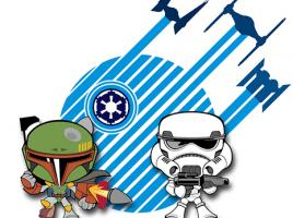 Mini Boba Fett & Mini Trooper