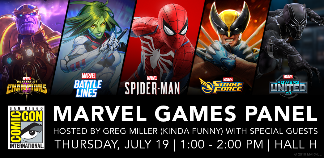 Marvel Games Headed for Hall H at San Diego Comic-Con 2018
