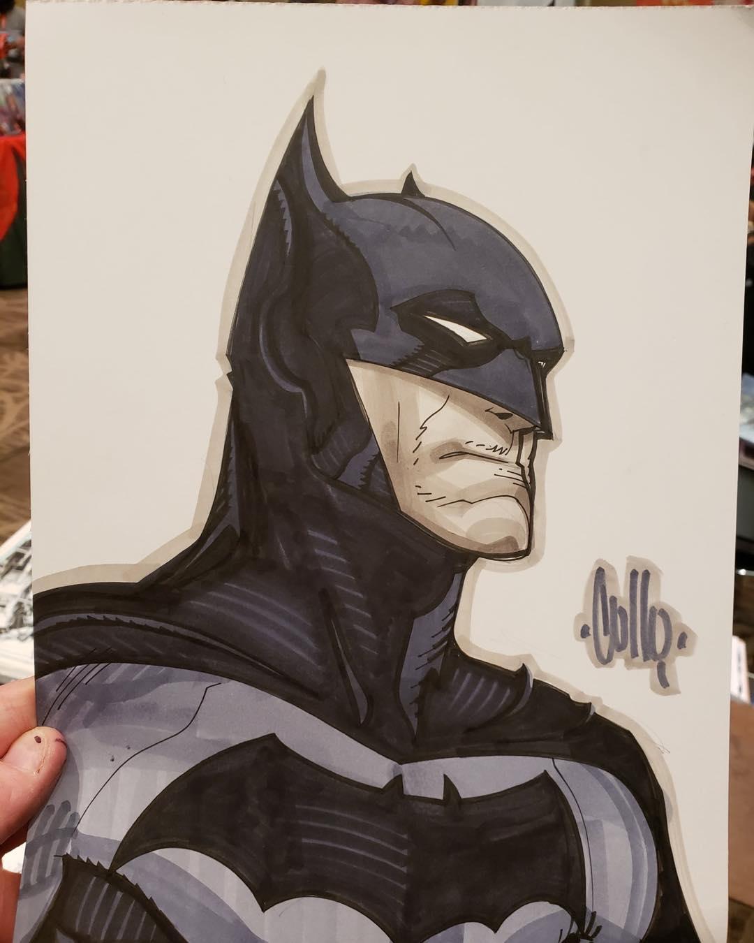 "DARK KNIGHT ART PRINT SDCC 2018 SIGNED BY ARTIST MITCH GERADS 11/""X17/"" BATMAN"