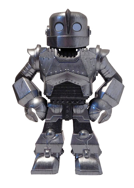 4-Inch Tall Classic Movie Iron Giant Robot Boys Grey Gray Toy Action Figure