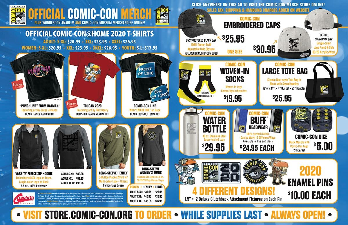 Comic-Con International Releases More Limited Merchandise for Sale ...