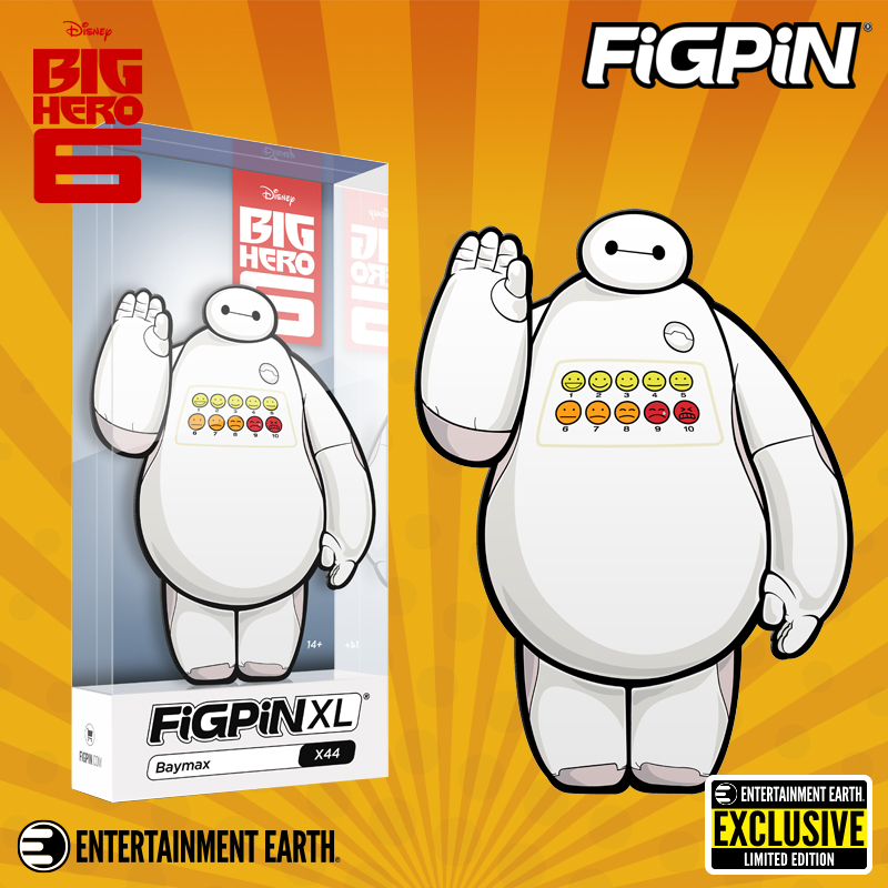 FiGPiN XL Big Hero 6 Baymax Pain Meter EE Entertainment Earth Exclusive SDCC